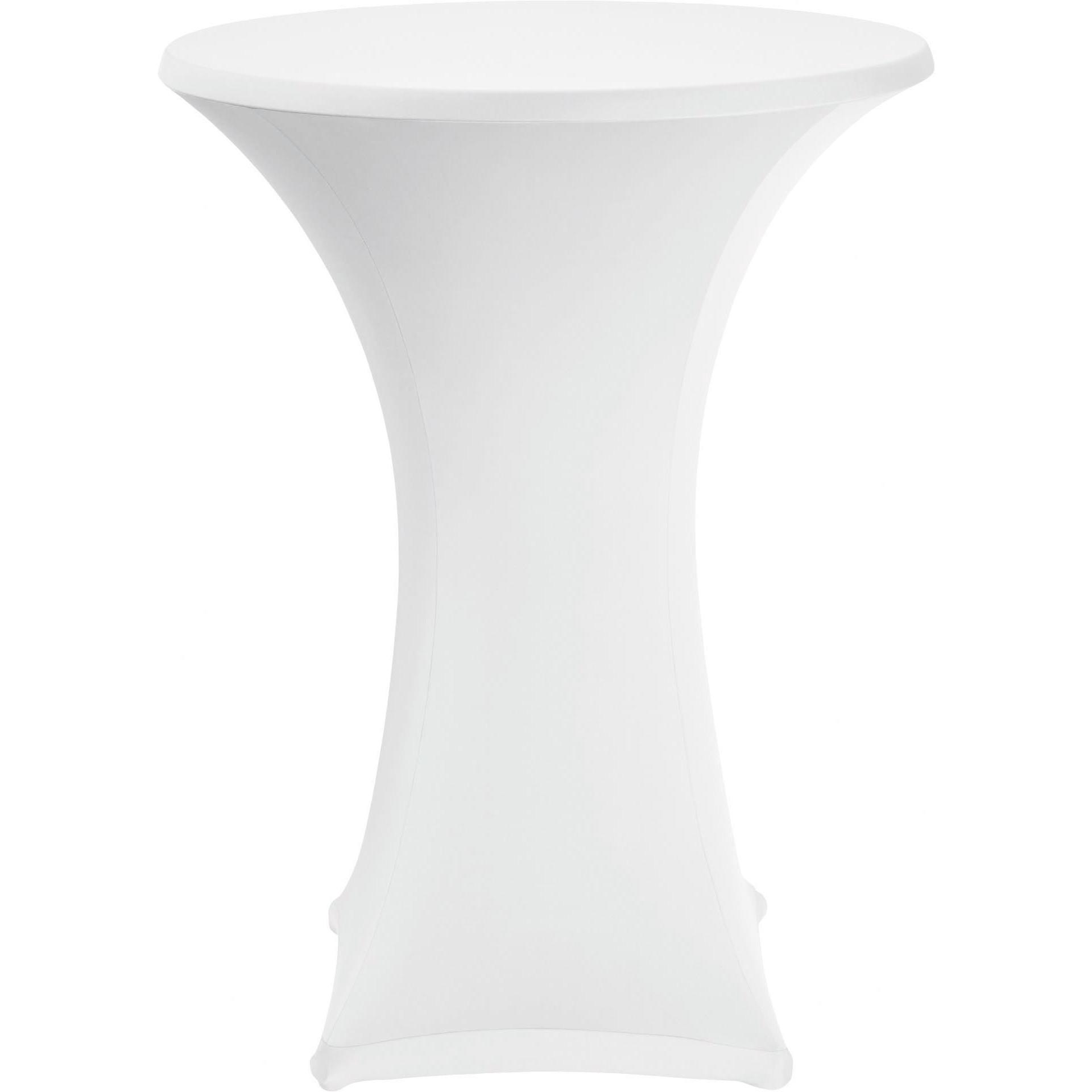 Stehtischbezug ø 70 cm weiß