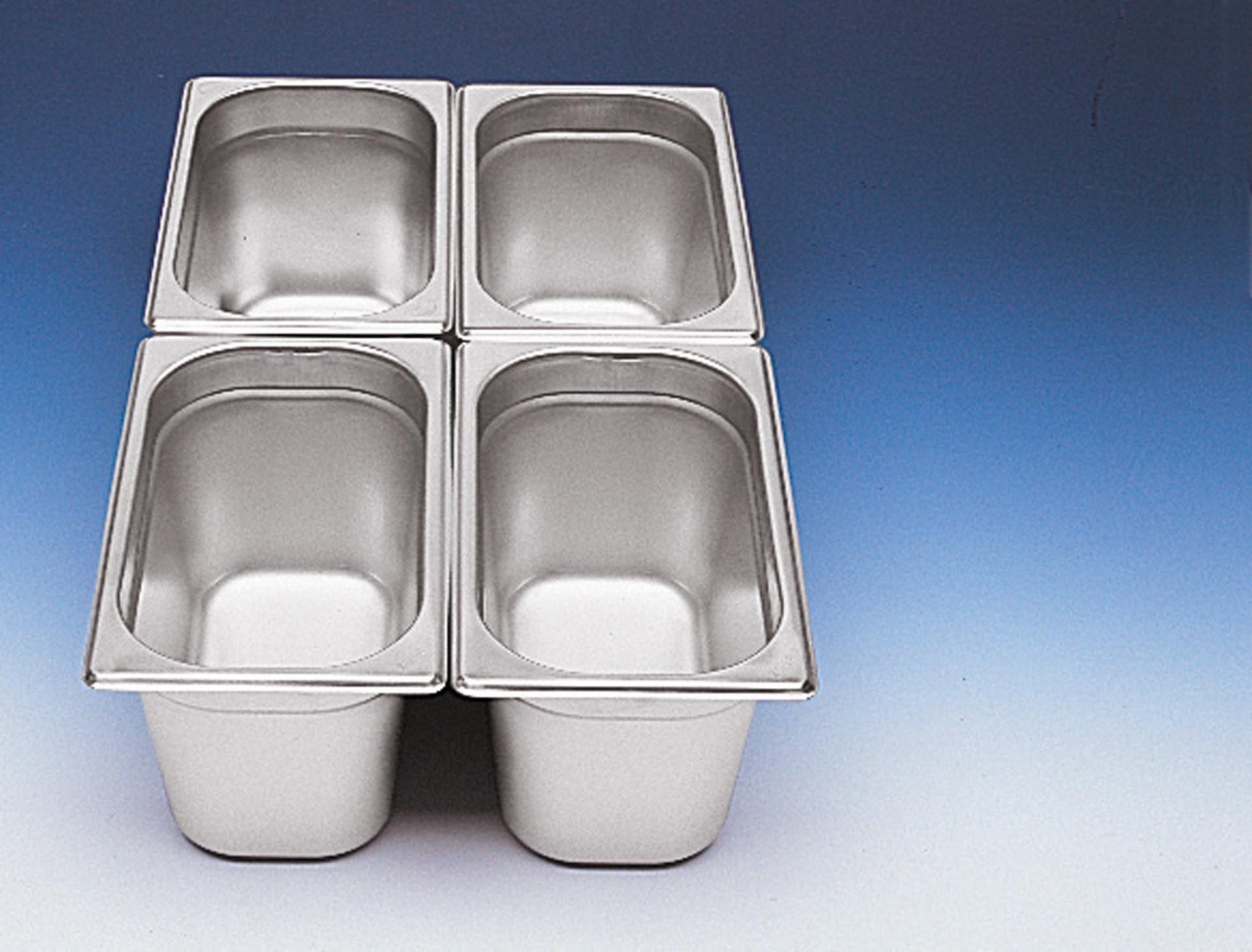 GN-Behälter 1/4 Edelstahl 100 mm tief