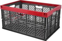 Klappbox 45 l grau-rot