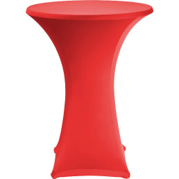 Stehtischbezug ø 70 cm rot