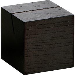 Kartenhalter Würfel dunkelbraun