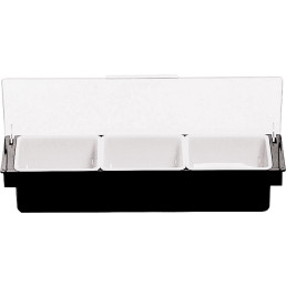Bar-Beilagenbehälter Kunststoff 3 Fächer