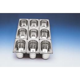 GN-Behälter 1/9 Edelstahl 100 mm tief