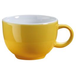"""Kaffee- / Cappuccinotasse """"Barista"""" gelb"""