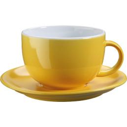 """Jumbo- / Latte-Untertasse """"Barista"""" gelb"""