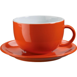 Jumbo-/Lattetasse untere orange