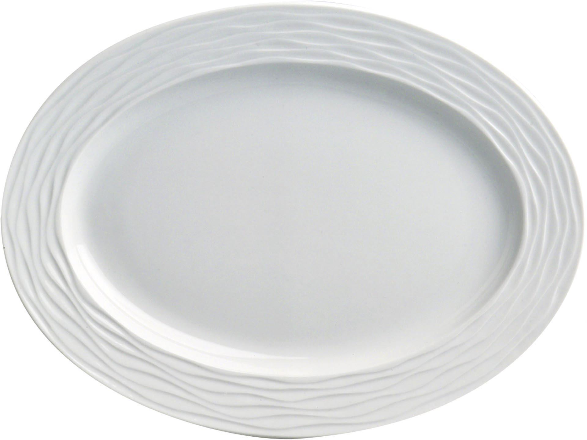 "Platte oval ""curved"" 32 mm Hotelporzellan"
