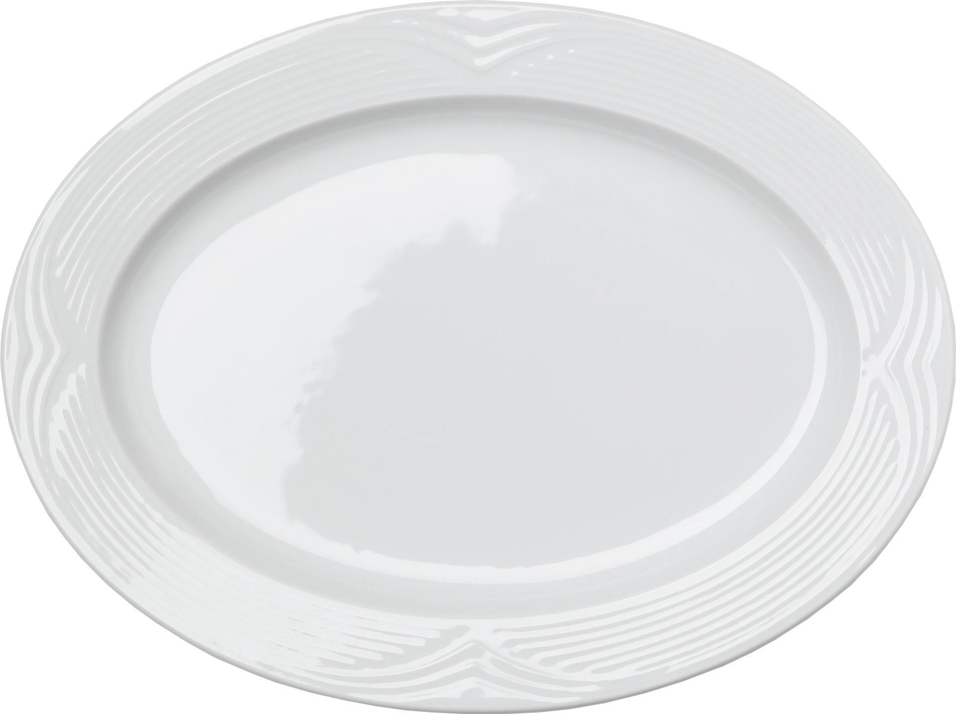 "Platte oval ""Saturnia"" 34 x 24 cm Hotelporzellan"