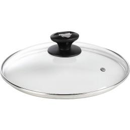 Glas-Deckel mit Dampfloch 20 cm