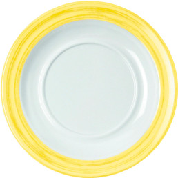 """Untertasse """"Colour"""" gelb"""