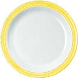 Teller flach gelb