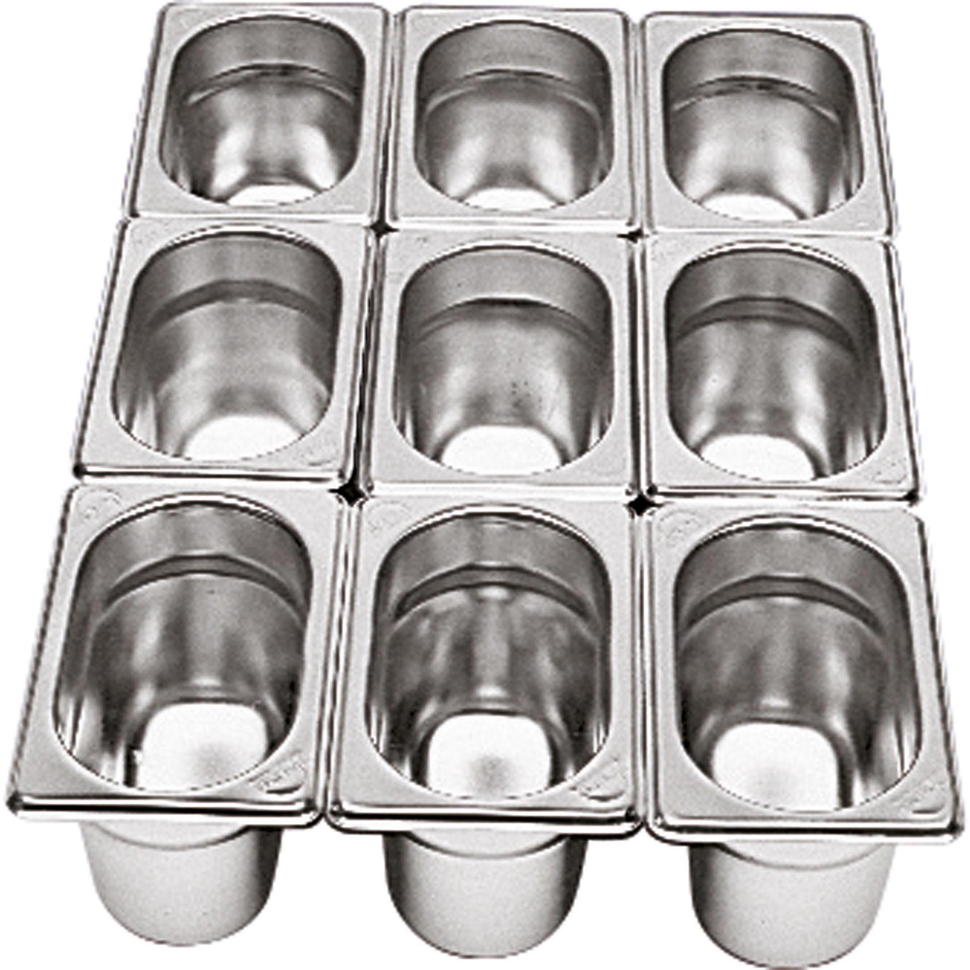 GN-Behälter 1/9 Edelstahl 65 mm tief