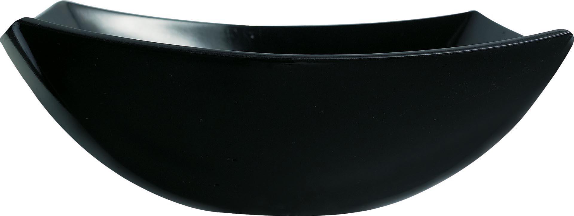 "Hartglas-Schale ""Quadrato"" schwarz 14 x 14 cm"