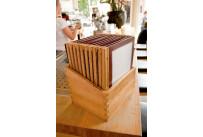 Speisenkarte mit Holzschiene