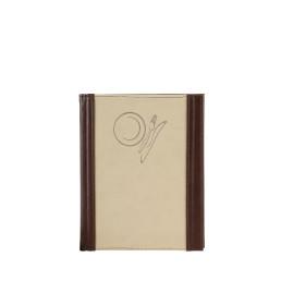 """Speisenkarte """"Culinaria"""" A5 espresso-beige"""