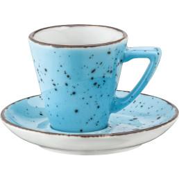"Porzellanserie ""Granja"" aqua Tasse untere Espresso"