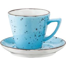 "Porzellanserie ""Granja"" aqua Tasse obere Kaffee/Cappuccino"