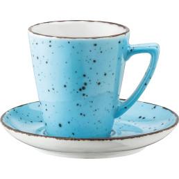 "Porzellanserie ""Granja"" aqua Tasse untere Kaffee Grande"