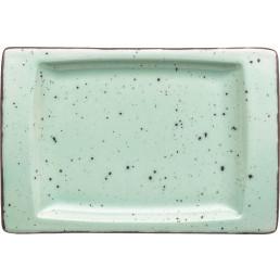 "Porzellanserie ""Granja"" mint Platte flach eckig, 18 x 12 cm"