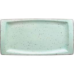 "Porzellanserie ""Granja"" mint Platte flach eckig, 18 x 36 cm"