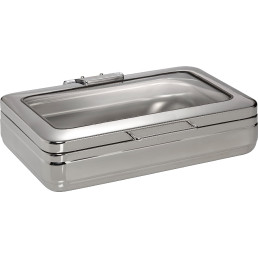 Chafing Dish-Oberteil mit Glasdeckel