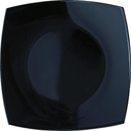 "Hartglas-Teller ""Quadrato"" schwarz 19 x 19 cm"