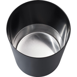Papierkorb mit Metallboden schwarz