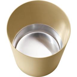 Papierkorb mit Metallboden beige