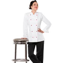 Kochjacke Damen langarm mit Armtasche Größe S
