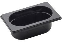 GN Behälter 1/9 Polycarbonat schwarz T: 65 mm 0,8 l