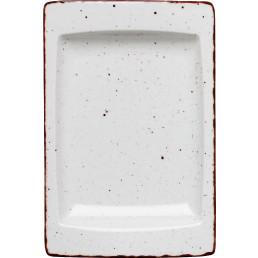 "Platte flach eckig ""Granja"" weiß 18 x 12 cm"