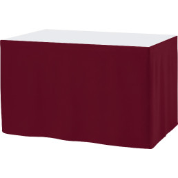 Skirting faltenlos bordeaux