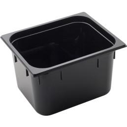 GN Behälter 1/2 Polycarbonat schwarz T: 200 mm 14,4 l
