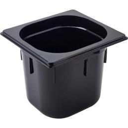 GN Behälter 1/6 Polycarbonat schwarz T: 150 mm 3,2 l