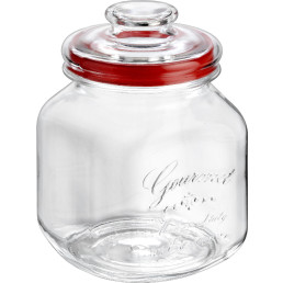 "Vorratsglas ""Country Gourmet"" eckig mit Glasdeckel ø 10 cm 1,7 l"
