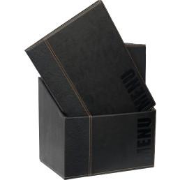 "Speisenkarten-Box ""Elite"" Set schwarz"
