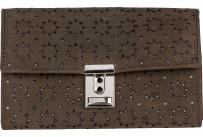 Kellnerbörse mit Motiv schlamm, Motiv Sonne, Hintergrund silber