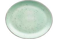 Platte flach oval