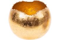 Teelichthalter gold, rund Ø 9cm