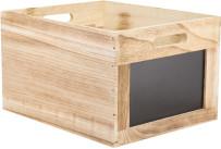 Holzbox mit Kreidetafel
