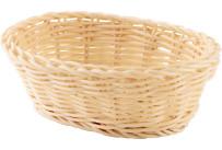 Korb oval 18x13x6cm beige