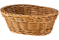Korb oval 18x13x6cm braun