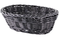 Korb oval 18x13x6cm schwarz