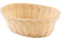 Korb oval 23x17x8cm beige