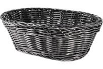 Korb oval 23x17x8cm schwarz