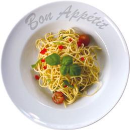 """Pastateller """"Bon Appetit"""" ø 230 cm rund"""