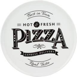 """Pizzateller weiß mit Dekor """"Host & Fresh"""" ø 30 cm"""