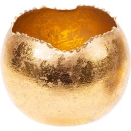 Teelichthalter gold, rund Ø 6cm
