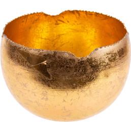 Teelichthalter gold, rund Ø 18cm