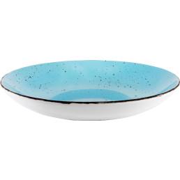 "Porzellanserie ""Granja"" aqua Teller tief Coup-Form, 26 cm"